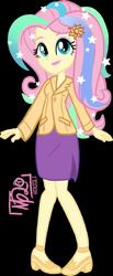 Size: 649x1574 | Tagged: safe, artist:tassji-s, fluttershy, equestria girls, clothes, cosplay, costume, principal celestia, shylestia, side slit, simple background, skirt, solo, transparent background