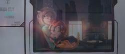 Size: 4600x2000 | Tagged: safe, artist:emerald-light, oc, oc only, oc:rain dew, human, kirin, duo, eyes closed, hugging a pony, kirin oc, looking out the window, window