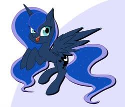 Size: 1600x1377 | Tagged: safe, artist:suziouwabami, princess luna, alicorn, pony, cute, female, lunabetes, mare, open mouth, solo