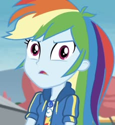 Size: 758x828   Tagged: safe, screencap, rainbow dash, equestria girls, rollercoaster of friendship, spoiler:eqg series, angry, cropped, disgusted, geode of super speed, looking at you, magical geodes, rainbow dash is best facemaker, solo