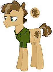 Size: 963x1306 | Tagged: safe, artist:eonionic, oc, oc:peanut butter, earth pony, pony, clothes, crack ship offspring, magical gay spawn, male, offspring, parent:cheese sandwich, parent:mud briar, parents:mudsandwich, shirt, simple background, solo, stallion, transparent background