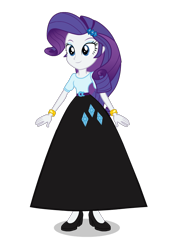 Size: 638x914 | Tagged: safe, artist:cartoonmasterv3, rarity, equestria girls, clothes, long skirt, simple background, skirt, solo, transparent background, vector