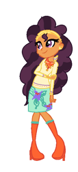 Size: 304x664 | Tagged: source needed, useless source url, safe, artist:cadense32, saffron masala, equestria girls, base used, equestria girls-ified