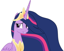 Size: 4729x3787 | Tagged: safe, artist:sketchmcreations, twilight sparkle, alicorn, the last problem, spoiler:s09e26, awkward smile, crown, cute, female, jewelry, looking away, mare, older, older twilight, peytral, princess twilight 2.0, regalia, simple background, sitting, solo, transparent background, twiabetes, twilight sparkle (alicorn), vector