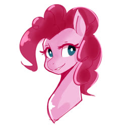 Size: 800x800 | Tagged: safe, artist:jovalic, pinkie pie, pony, bust, cute, diapinkes, female, mare, portrait, simple background, solo, white background
