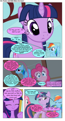 Size: 868x1610 | Tagged: safe, artist:dziadek1990, edit, edited screencap, screencap, pinkie pie, rainbow dash, twilight sparkle, oc, oc:pinka, oc:skullfuck doombringer, comic:ponies and d&d, bridle gossip, dragonshy, comic, conversation, dialogue, dungeons and dragons, emote story:ponies and d&d, pen and paper rpg, rpg, screencap comic, slice of life, text