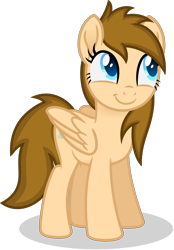 Size: 2350x3379   Tagged: safe, artist:peahead, oc, oc only, oc:stellar winds, pegasus, pony, blue eyes, cute, female, folded wings, happy, mare, simple background, smiling, solo, standing, transparent background, vector, wings