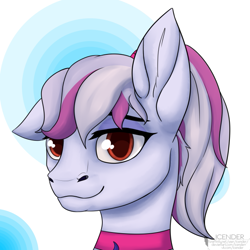 Size: 657x657 | Tagged: artist needed, safe, oc, oc:windbreaker, pegasus, pony, looking at you, ponytail
