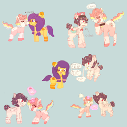 Size: 4000x4000 | Tagged: safe, artist:rigbythememe, oc, oc only, oc:dandyletters (rigbythememe), oc:honeybloom (rigbythememe), oc:milky (rigbythememe), pegasus, pony, unicorn, boop, brother, colt, comic, cutie mark, female, filly, flying, letter, levitation, love letter, magic, mailpony, male, mare, noseboop, plushie, siblings, simple background, sister, speech bubble, stallion, telekinesis