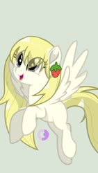 Size: 1080x1920 | Tagged: safe, anonymous artist, oc, oc only, oc:vanilla fragrant, pegasus, pony, simple background, solo