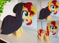 Size: 4072x2980 | Tagged: safe, artist:epicrainbowcrafts, sunset shimmer, pony, cloak, clothes, irl, photo, plushie, solo
