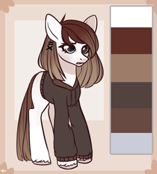 Size: 713x788 | Tagged: safe, artist:rerorir, oc, earth pony, pony, clothes, female, hoodie, mare, solo