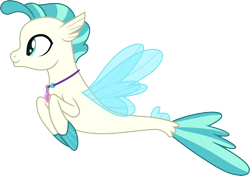 Size: 4254x3000 | Tagged: safe, artist:cloudyglow, terramar, classical hippogriff, hippogriff, seapony (g4), surf and/or turf, .ai available, high res, jewelry, male, necklace, simple background, solo, transparent background, vector
