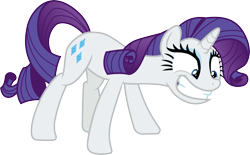 Size: 4833x3000 | Tagged: safe, artist:cloudyglow, rarity, pony, unicorn, dragon dropped, .ai available, female, high res, mare, simple background, smiling, solo, transparent background, vector