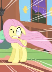 Size: 517x720 | Tagged: safe, edit, editor:undeadponysoldier, screencap, fluttershy, pegasus, pony, stare master, cropped, faic, female, fluttershy's cottage, mare, one eye closed, solo