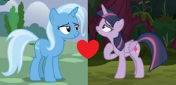 Size: 914x444 | Tagged: safe, edit, edited screencap, screencap, mean twilight sparkle, trixie, the mean 6, female, lesbian, mean twixie, shipping, shipping domino, twixie