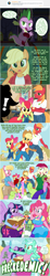 Size: 800x4312 | Tagged: safe, artist:flash equestria photography, apple bloom, applejack, big macintosh, daisy, flower wishes, lily, lily valley, lyra heartstrings, pinkie pie, roseluck, spike, twilight sparkle, alicorn, anthro, earth pony, pony, unguligrade anthro, unicorn, comic, epidemic, freckles, show accurate anthro, twilight sparkle (alicorn)