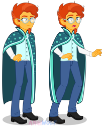 Size: 3462x4221 | Tagged: safe, artist:amgiwolf, sunburst, equestria girls, clothes, equestria girls-ified, high res, robe, simple background, solo, sunburst's robe, transparent background, vector