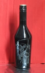 Size: 1024x1648 | Tagged: safe, artist:malte279, king sombra, baileys, bottle, craft, glass engraving