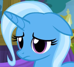 Size: 598x544 | Tagged: safe, screencap, trixie, pony, unicorn, no second prances, cropped, cute, female, floppy ears, mare, sad, sadorable, solo
