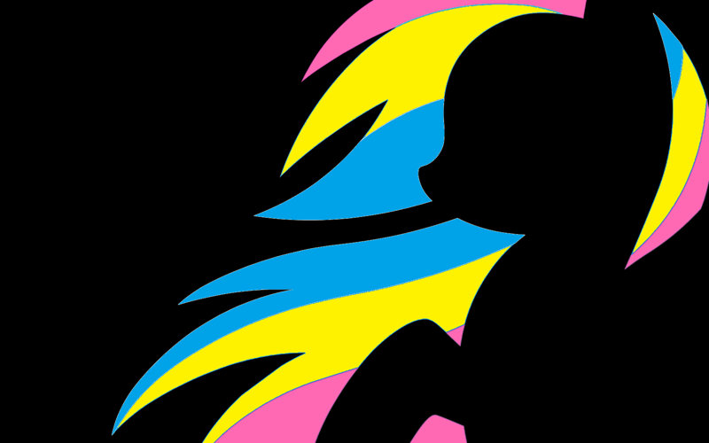 2250180 Safe Rainbow Dash Pegasus Pony Black Background Female Mane Mare Pansexual Pansexual Pride Flag Pride Pride Flag Silhouette Simple Background Solo Derpibooru