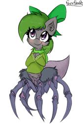 Size: 1188x1762   Tagged: safe, artist:freefraq, oc, monster pony, original species, spider, spiderling, spiderpony, solo