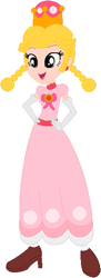 Size: 217x598 | Tagged: safe, artist:selenaede, artist:user15432, human, equestria girls, barely eqg related, base used, boots, bow, clothes, crossover, crown, dress, ear piercing, earring, equestria girls style, equestria girls-ified, gloves, gown, hands on hip, jewelry, new super mario bros. u deluxe, nintendo, peachette, piercing, regalia, shoes, super crown, super mario bros.