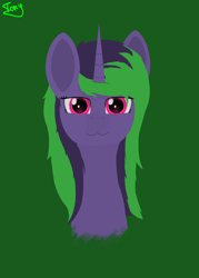 Size: 5000x7000 | Tagged: safe, artist:graphictoxin, oc, oc only, oc:graphic toxin, pony, unicorn, :3, absurd resolution, bust, cute, glowing eyes, lineless, male, minimalist, modern art, portrait, simple background, smiling, solo, wings