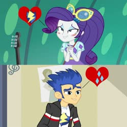 Size: 1280x1280 | Tagged: safe, artist:themexicanpunisher, flash sentry, rarity, equestria girls, rainbow rocks, spring breakdown, spoiler:eqg series, spoiler:eqg series (season 2), female, male, sentrity, shipping, shipping domino, straight