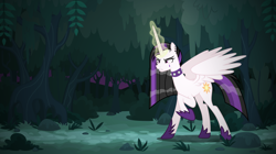 Size: 8434x4739 | Tagged: safe, artist:tsabak, princess celestia, pony, between dark and dawn, spoiler:s09e13, absurd resolution, forest, magic, punklestia, solo, vector