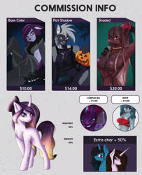 Size: 2204x2720 | Tagged: safe, artist:drarkusss0, oc, alicorn, anthro, earth pony, human, pegasus, pony, unicorn, advertisement, armpits, caption, commission, commission info, humanized, image macro, solo, text