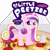 Size: 5000x5000 | Tagged: safe, alternate version, artist:poniidesu, princess cadance, alicorn, pony, /mlp/, 4chan, blank flank, cute, drawthread, female, filly, food, logo, meat, peetzer, pepperoni, pepperoni pizza, pizza, pizza box, solo, text, tiny, tiny ponies, underhoof, younger