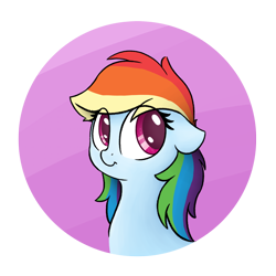 Size: 1000x1000 | Tagged: safe, anonymous artist, rainbow dash, pegasus, pony, /mlp/, abstract background, alternate hairstyle, bust, cute, dashabetes, double mane, drawthread, eye clipping through hair, female, floppy ears, mare, portrait, solo