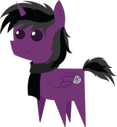 Size: 5294x5740 | Tagged: safe, artist:cosmiceclipsed, oc, oc only, oc:kai shadow, alicorn, alicorn oc, clothes, cutie mark, scarf, simple background, transparent background