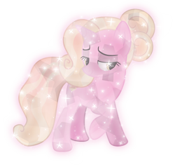 Size: 7000x6656 | Tagged: safe, artist:lincolnbrewsterfan, luster dawn, unicorn, beautiful, bedroom eyes, crystalline, crystallized, crystallized pony, glow, raised hoof, simple background, smiling, solo, sparkling, special, transparent background