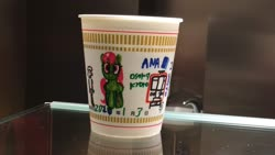 Size: 2720x1532 | Tagged: safe, merry may, human, pony, cup noodles, irl, irl human, japan, looking at you, osaka, photo