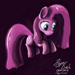 Size: 1024x1024 | Tagged: safe, artist:hyper dash, pinkie pie, earth pony, commission, pinkamena diane pie, solo