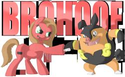Size: 1280x787 | Tagged: safe, artist:crispokefan, oc, oc:pun, pignite, pony, ask pun, ask, hoofbump, pokémon