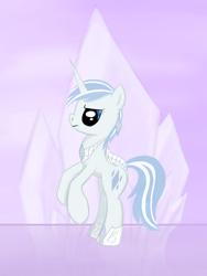 Size: 1500x2000 | Tagged: safe, artist:eternyan, oc, oc only, crystal pony, unicorn, interpretation, solo