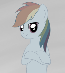 Size: 1300x1450   Tagged: safe, artist:eternyan, rainbow dash, discorded, simple background, solo