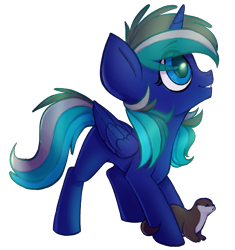 Size: 1879x1995 | Tagged: safe, artist:earthpone, oc, oc only, alicorn, otter, pony, commission, female, filly, pet, simple background, transparent background