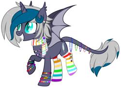 Size: 3192x2328 | Tagged: safe, artist:aestheticallylithi, artist:lazuli, oc, oc only, oc:elizabat stormfeather, alicorn, bat pony, bat pony alicorn, pony, agender pride flag, alicorn oc, aromantic pride flag, asexual pride flag, badge, base used, bat pony oc, bisexual pride flag, bracelet, clothes, cute, ear piercing, earring, female, freckles, gay pride, gay pride flag, genderfluid pride flag, genderqueer pride flag, grin, heart, intersex pride flag, jewelry, lesbian pride flag, mare, necklace, nonbinary pride flag, pansexual pride flag, piercing, polyamory pride flag, polysexual pride flag, pride, pride flag, rainbow socks, raised hoof, raised leg, redesign, scarf, simple background, smiling, socks, solo, striped socks, transgender pride flag, transparent background, wall of tags, watermark, wristband