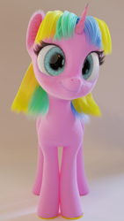 Size: 1080x1920 | Tagged: safe, artist:gabe2252, oc, oc:constant time, unicorn, 3d, blender, female, looking at you, mare