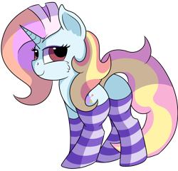 Size: 1280x1231 | Tagged: safe, artist:rainbowtashie, fleur-de-lis, sassy saddles, oc, oc:exquisite attire, pony, unicorn, butt, clothes, commissioner:bigonionbean, cutie mark, dat flank, extra thicc, female, fusion, fusion:exquisite attire, mare, meme, plot, seductive pose, socks, striped socks, sultry pose, thicc ass, writer:bigonionbean