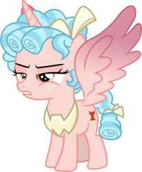 Size: 3000x3641 | Tagged: safe, artist:cloudyglow, cozy glow, alicorn, pony, the ending of the end, .ai available, absurd resolution, alicornified, cozycorn, female, filly, race swap, simple background, solo, spread wings, standing, transparent background, vector, wings