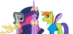 Size: 870x408 | Tagged: safe, artist:diana173076, marble pie, thorax, twilight sparkle, alicorn, changedling, changeling, spoiler:s09e26, clothes, crack shipping, dress, female, king thorax, male, marriage, princess twilight 2.0, shipping, straight, twilight sparkle (alicorn), wedding, wedding dress