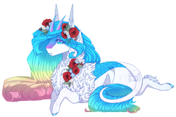Size: 1504x1006 | Tagged: safe, artist:lunawolf28, oc, kirin, female, prone, simple background, solo, transparent background