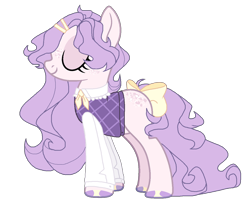Size: 1024x889 | Tagged: safe, artist:chococolte, oc, earth pony, pony, bow, clothes, female, mare, shirt, simple background, solo, tail bow, transparent background, vest