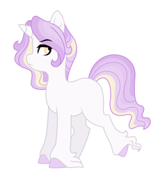 Size: 1952x2036 | Tagged: safe, artist:rosebuddity, oc, oc:iris, pony, unicorn, female, mare, offspring, parent:prince blueblood, parent:twilight sparkle, parents:twiblood, simple background, solo, white background