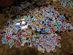 Size: 2048x1536 | Tagged: safe, angel bunny, apple bloom, applejack, copper top, dj pon-3, flash magnus, fluttershy, meadowbrook, moondancer, pinkie pie, princess cadance, princess flurry heart, princess luna, queen novo, rainbow dash, rarity, spike, sunburst, sunset shimmer, sweetie belle, twilight sparkle, vinyl scratch, oc, oc:pearl shine, alicorn, spoiler:my little pony movie, alicornified, apple, balloon, clones, cute, dc comics, emotes, emoticon, eyes closed, food, ice cream, malaysia, mane six, marvel, netitus, older, older flurry heart, package, pirate costume, pirate twilight, race swap, rainbow, shimmercorn, spider-man, sticker, superman, the incredible hulk, twilight sparkle (alicorn), wolverine